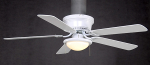 Hampton Bay Hugger 52 inch White Ceiling Fan With Light