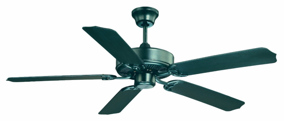 Savoy House 52-EOF-5MB-FB 52-Inch Nomad Outdoor Ceiling Fan, Flat Black Finish with Wet Rated Flat Black Blades