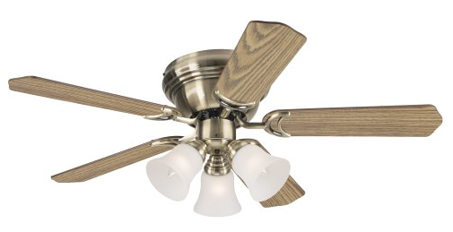 Westinghouse 7851000 Contempra Trio Three-Light 42-Inch Reversible Five-Blade Indoor Ceiling Fan