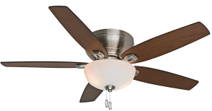 Casablanca Fan Company 54101 Durant 54-Inch Brushed Nickel Ceiling Fan with Five Walnut:Burnt Walnut Blades with Light Kit