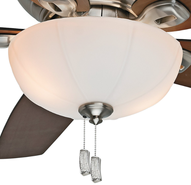 Casablanca Fan Company 54101 Durant 54-Inch Brushed Nickel Ceiling Fan with Five Walnut:Burnt Walnut Blades with Light Kit detail