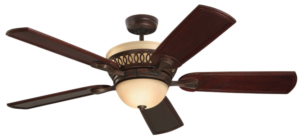 Emerson Ceiling Fans CF440VNB Braddock Indoor Ceiling Fan With Light And Remote 54-Inch Blades Venetian Bronze Finish