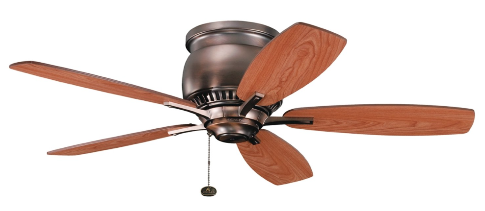 Kichler Lighting 300124OBB Richland II 42inch Flush-Mount Ceiling Fan, Oil Brushed Bronze Finish with Reversible Blades