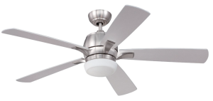 Craftmade PU52SS5 Pulsar Stainless Steel 52 inch Ceiling Fan with Light and Remote Control